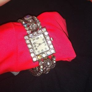 Vintage Accutime NY bling watch